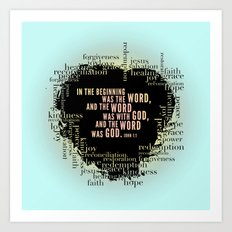 In the Beginning. John 1:1 Print. Art Print