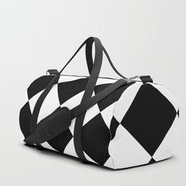 Diamond (Black & White Pattern) Duffle Bag