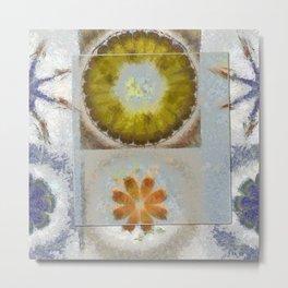Heronbill Content Flower  ID:16165-155700-92131 Metal Print