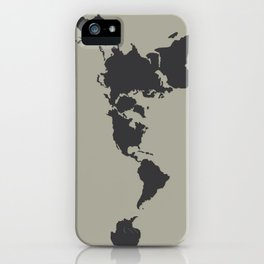 Dymaxion Map - Greys iPhone Case