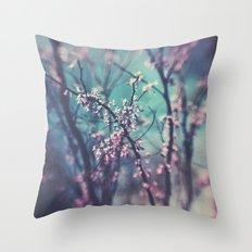 Paint Me Pink &Blue Throw Pillow