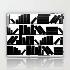 Library Book Shelves, black and white Laptop & iPad Skin