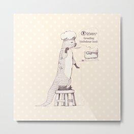 Creating delicious food - Otter - Oldlace Metal Print