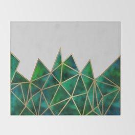 Emerald & Gold Geometric Throw Blanket
