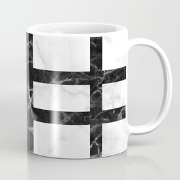 marble pattern design - white marble black marble Coffee Mug