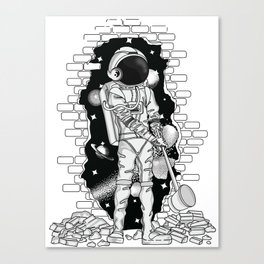 Astronaut on the loose Canvas Print