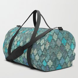 Moroccan Inspired Precious Tile Pattern Duffle Bag