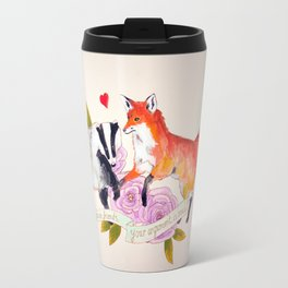 The Badger and Fox are Friends... Travel Mug