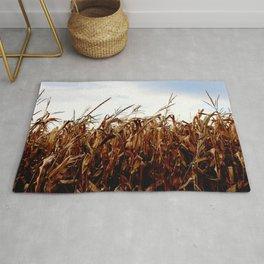 Dried corn field Rug