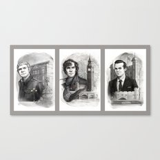 Sherlocked Trio Canvas Print