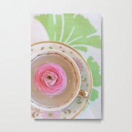 Teacup Flower Metal Print