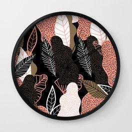 Naive Black Wall Clock