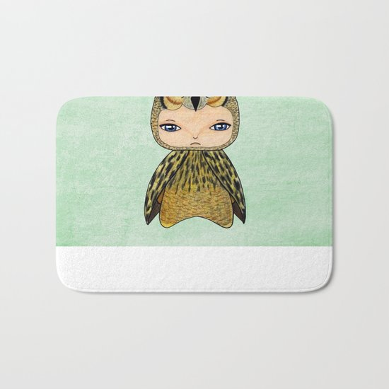 A Boy - Owl Bath Mat