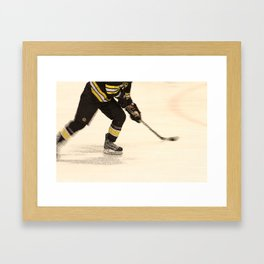 Traveling with the Puck Framed Art Print