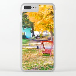 My favorite time of year Clear iPhone Case