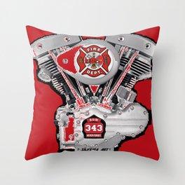 Shoveling fire. Throw Pillow