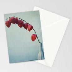 Hozuki, Autumn Botanical Still Life - Japanese Lantern Pods in Vase Stationery Cards