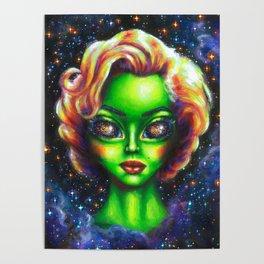Iconic Alien Women: Marilyn Poster