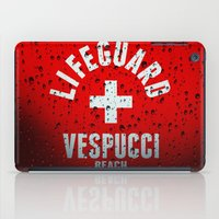 grand theft auto iPad Cases featuring Los Santos Vespucci Beach Lifeguard Grand Theft Auto by KeenaKorn