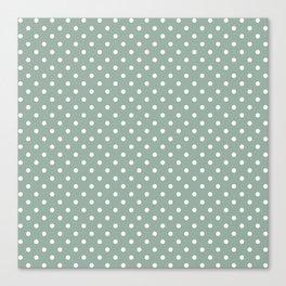 Pattern of the golden days polka dot design Canvas Print