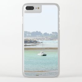 Walking on the shore Clear iPhone Case
