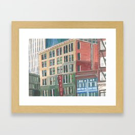 City Buildings View, downtown Oakland Framed Art Print