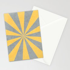 gray and yellow starburst Stationery Cards
