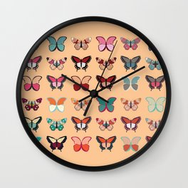 Butterflies collection 02 Wall Clock