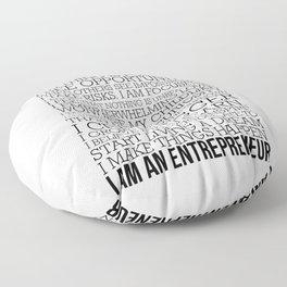 Entrepreneur Manifesto Floor Pillow