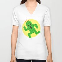 final fantasy V-neck T-shirts featuring Final Fantasy - Cactuar by Versiris