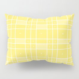 Yellow Squares and Dots Pillow Sham