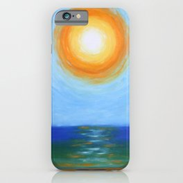 Haitian Sunrise coastal landscape painting by Joseph Stella iPhone Case