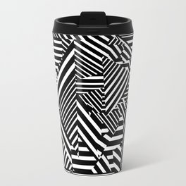 Dazzle Camo #01 - Black & White Travel Mug