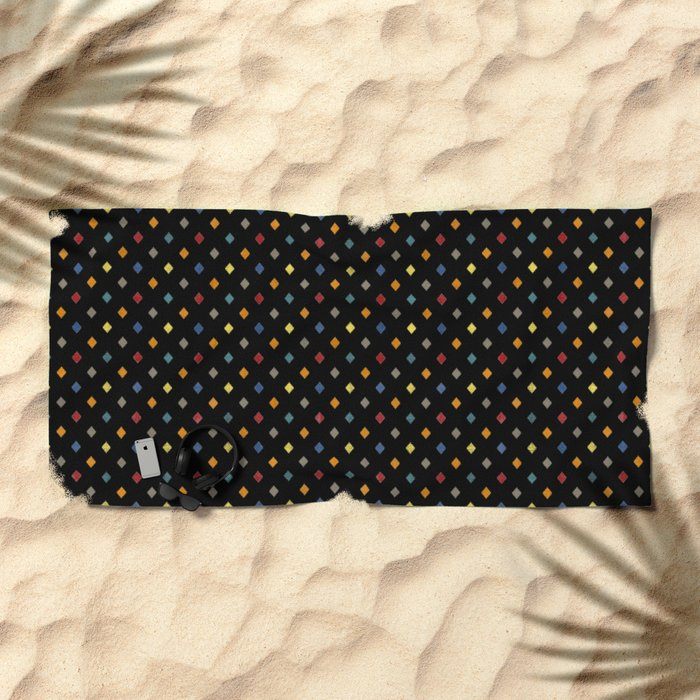 Happy Rombs on Black Beach Towel
