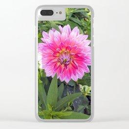 Bright Dahlia Clear iPhone Case