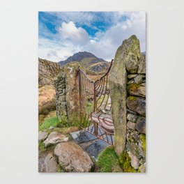 Gate To Tryfan Snowdonia Canvas Print