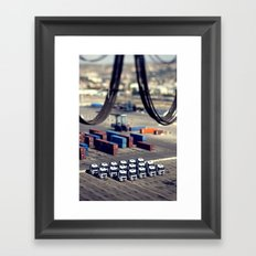LIKE A TOY Framed Art Print