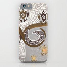 Tonal Fish Hook Hawaiian Tapa iPhone Case
