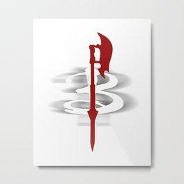 Buffy's Scythe Metal Print