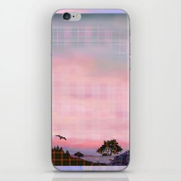 Plaid Landscape Tranquil Sunset iPhone Skin