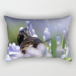 Honeybird amongst the agapanthas Rectangular Pillow