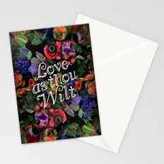 Love as thou wilt Stationery Cards