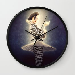 Precious Pierrette Illuminated Wall Clock