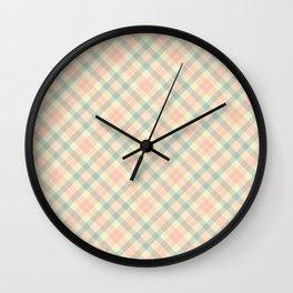 Spring Plaid 4 Wall Clock