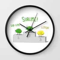 sublime Wall Clocks featuring Sublime! by Caphastrotes