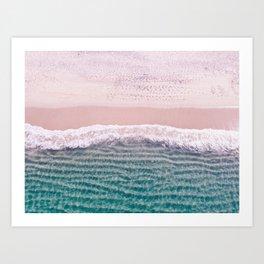Contemporary Beach, Aerial Beach Art Print