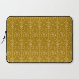 Art Deco Vector in Gold Laptop Sleeve