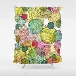 Yarn Stash Shower Curtain