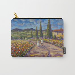 "Tuscany Painting on Canvas 37.8"" Landscape Painting Italy Country Art Impressionist Painting Tuscan Carry-All Pouch"