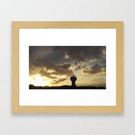 Sunset over Water Tower 2 Framed Art Print